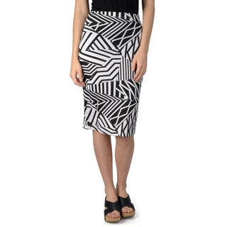 Hailey Jeans Co. Junior's Print Elastic Waist Pencil Skirt