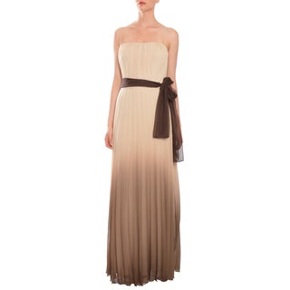Chetta B Women's Ombre Chiffon Pleated Evening Gown