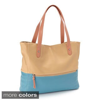 Large Two-tone Tote