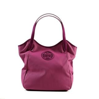 Tory Burch Dipped Canvas Stacked NS Tote in Pretty Violet