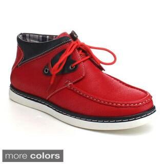 J's Awake Men's 'Carson-14' Two-tone Collared Oxford Shoes