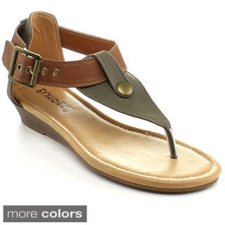 Bumper Women's 'Eden-50' T-strap Sandals