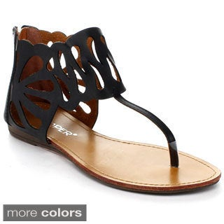 Bumper Women's 'Lory-110' Cut-out Flat Sandals