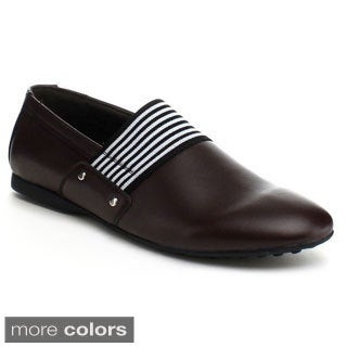 J's Awake Men's 'Daniel-33' Textile Accent Loafers
