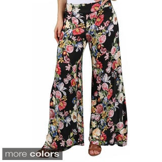 Love Change Juniors Floral Print Palazzo Pants