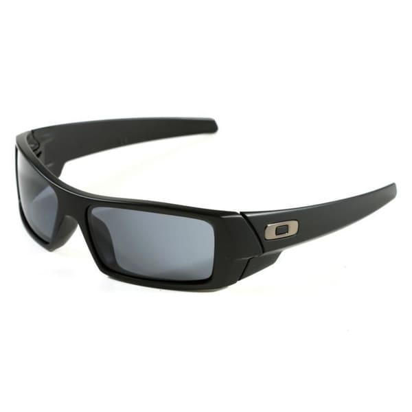 Oakley 'GasCan' Matte Black/ Grey Plutonite Lens Sunglasses