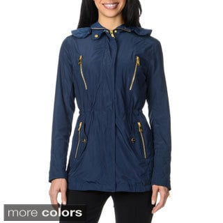 Bebe Women's Hooded Anorak Jacket