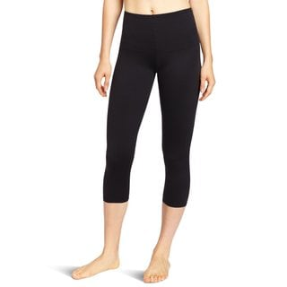 Flexees Women's Black 'Fat Free' Dressing Leggings