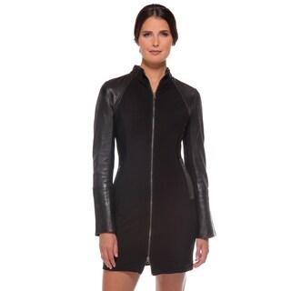 Anatomie Women's 'Milan' Black Leather Detail Dress