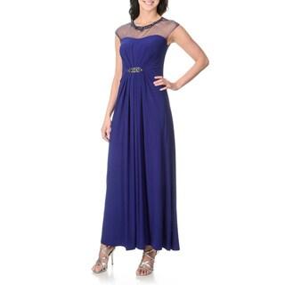 Patra Women's Illusion Yoke Evening Gown