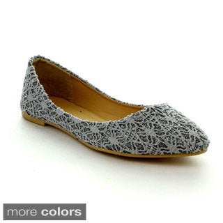 Rck Bella Women's 'Fonnie-1' Fabric Lace Flats