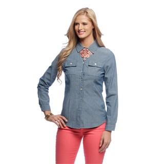 Live a Little Women's Angled Pocket Shirt