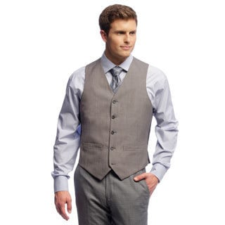 Dockers Men's Grey Sharkskin Suit Separates Vest