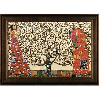 Gustav Klimt 'The Tree of Life, Stoclet Frieze, 1909' Hand Painted Framed Canvas Art