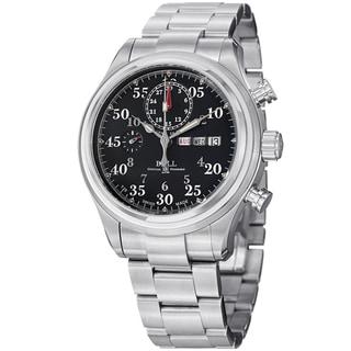 Ball Men's CM1030D-S1J-BK 'Trainmaster Racer' Black Dial Stainless Steel Watch