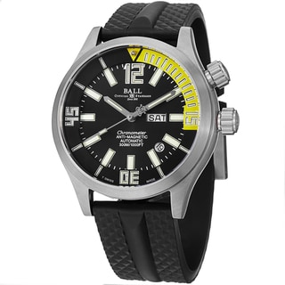 Ball Men's DM1022A-PC1A-BKYE 'Engineer Master II' Black Dial Black Rubber Strap Watch