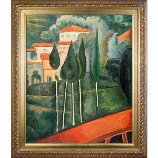 Amedeo Modigliani 'Landscape, Southern France' Hand Painted Framed Canvas Art