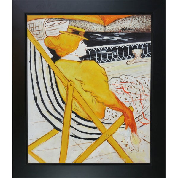 Henri de Toulouse-Lautrec 'The passenger in cabin 54' Hand Painted Framed Canvas Art