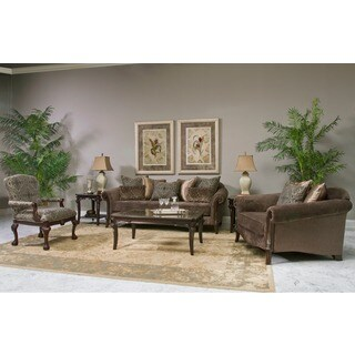 Lila Traditional Roll-arm Chair with Accent Pillows