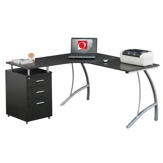 Modern Designs D4804 L-shape Corner Multi Functional Home Office Computer Desk