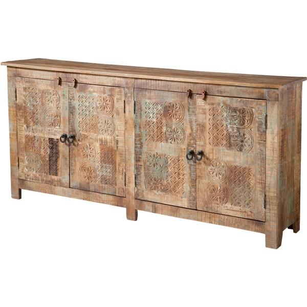 Alyssa Rustic Wood Console