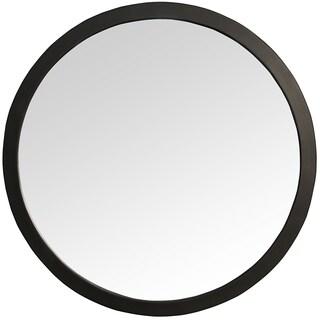 Rena Round Black Wall Mirror