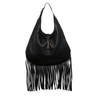 Gucci Nouveau Fringe Leather Hobo