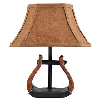 Somette Stirrup Accent Lamp with Suede Shade