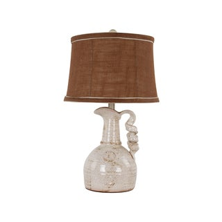1-Light Ivory Vessel Table Lamp