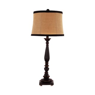 Somette 1-Light Black Traditional Table Lamp