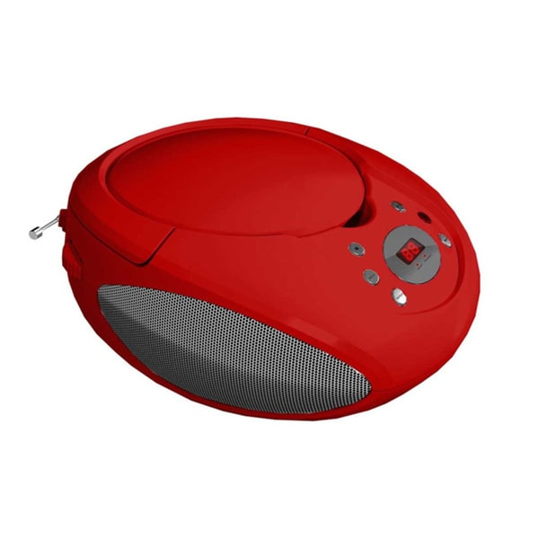 Supersonic Portable Red MP3/ CD Player