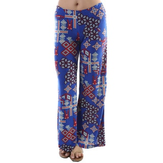 24/7 Comfort Apparel Women's 'Palazzo' Multicolored Wide-leg Pants