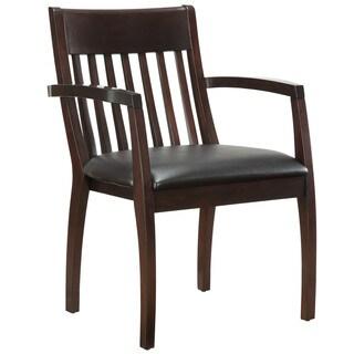 Bently Mocha Slat Back Guest Chair