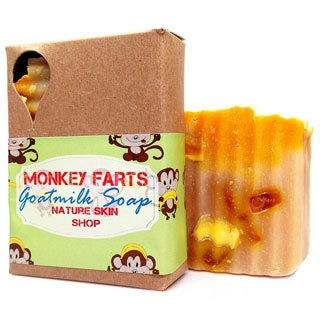 Monkey Farts Cold Press Natural Goat Milk 5-ounce Soap Bar
