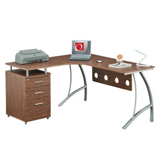 Modern Designs L-shape File Cabinet Computer Desk