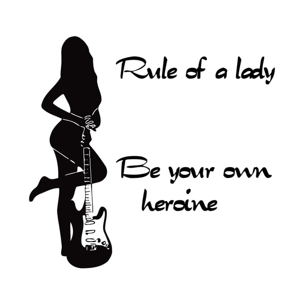 Be Your Own Heroine Quote Vinyl Wall Art