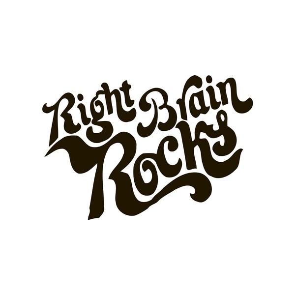 Right Brain Rocks Quote Vinyl Wall Art