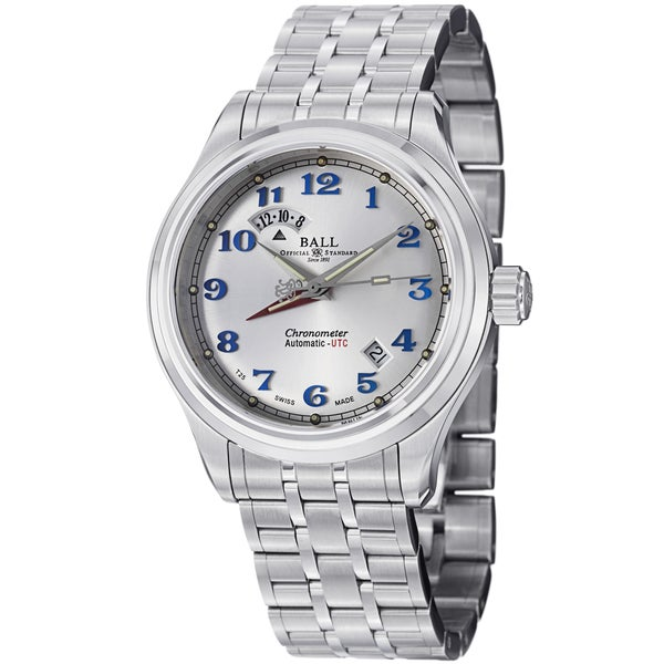 Ball Men's GM1020D-SCJ-SL 'Trainmaster Cleveland Express' Silver Dial Stainless Steel Dual Time Watch