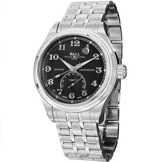 Ball Men's NT1050D-SJ-BKF 'Trainmaster Fahrenheit' Black Dial Stainless Steel Watch