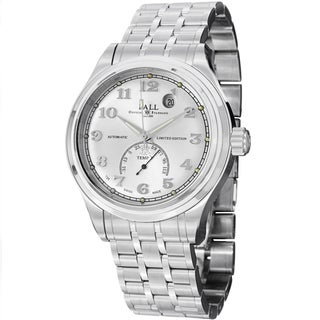Ball Men's NT1050D-SJ-SLF 'Trainmaster Fahrenheit' Silver Dial Stainless Steel Watch