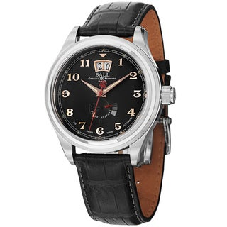 Ball Men's PM1058D-L1J-BK 'Trainmaster Cleveland' Black Dial Power Reserve Watch