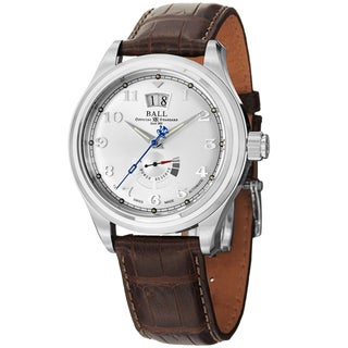 Ball Men's PM1058D-L1J-SL 'Trainmaster Cleveland' Silver Dial Power Reserve Watch
