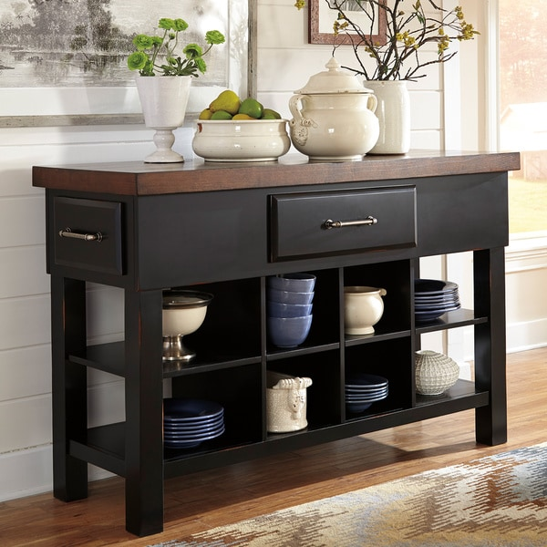 Signature Designs by Ashley Marileze Brown/Black Dining Room Server