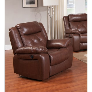 Rivallo Top Grain Leather Traditional Reclining Chair