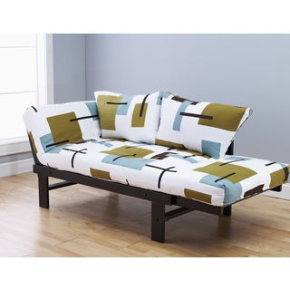 Elite Wood Abstract Block White Lounger
