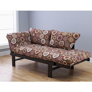 Elite Wood Multi Color Circles Brown Lounger