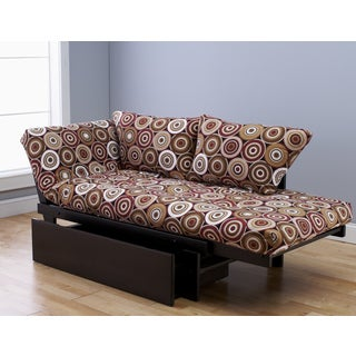 Elite Wood Multi Color Brown Lounger with Drawer
