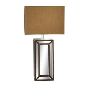 Casa Cortes French Column 32-inch Handcrafted Mirror Table Lamp