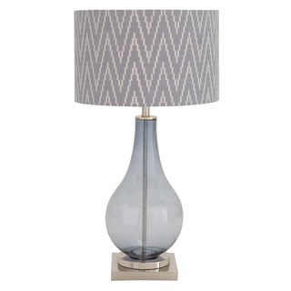 Casa Cortes Tear Drop 29-inch Glass Zigzag Chevron Handcrafted Table Lamp