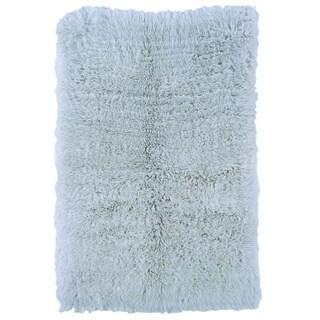 Linon Flokati Heavy Pastel Blue Rug (5' x 8')